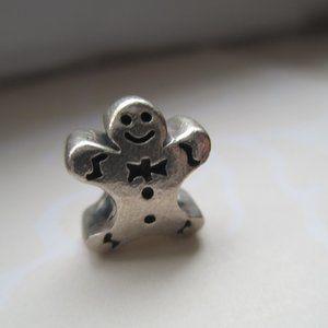 Gingerbread Man Sterling Silver bead